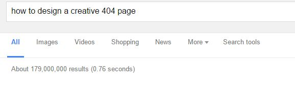 Google search 404 pages