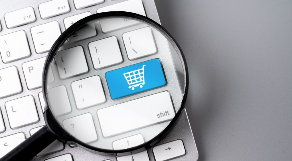Online Shopping Icon On Computer Keyboard