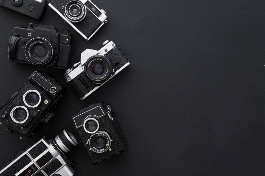 cameras-on-black-background