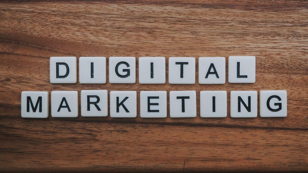 Digital Marketing in Block Letters
